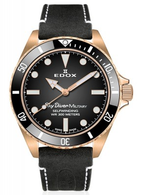 Edox SkyDiver Military Bronze Limited Edition Automatic 80115 BRZN NDR watch picture