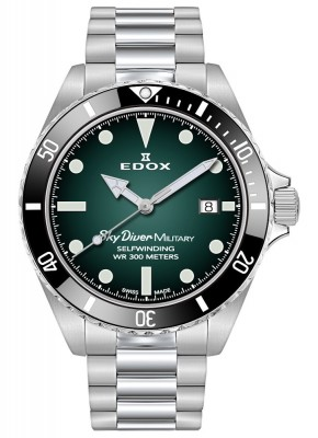 Edox SkyDiver Military Limited Edition Date Automatic 80115 3N VD watch picture