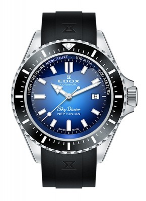 Edox SkyDiver Neptunian Date Automatic 80120 3NCA BUIDN watch picture