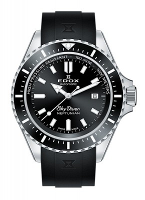 Edox SkyDiver Neptunian Date Automatic 80120 3NCA NIN watch picture