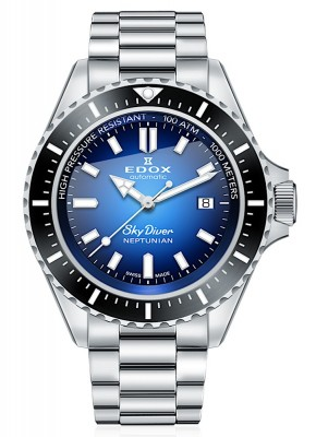 Edox SkyDiver Neptunian Date Automatic 80120 3NM BUIDN watch picture