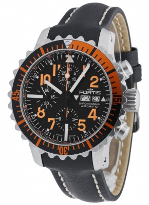 Fortis Aquatis Marinemaster Chronograph Orange 671.19.49 L.01 watch picture
