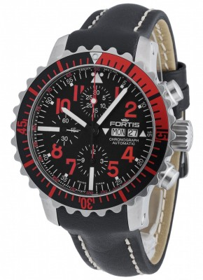 Fortis Aquatis Marinemaster Chronograph Red 671.23.43 L.01 watch picture