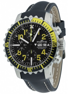 Fortis Aquatis Marinemaster Chronograph Yellow 671.24.14 L.01 watch picture