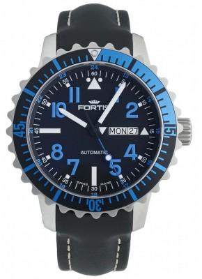 Fortis Aquatis Marinemaster DayDate Blue 670.15.45 L.01 watch picture