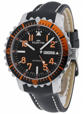 Fortis Aquatis Marinemaster DayDate Orange 670.19.49 L.01 watch picture
