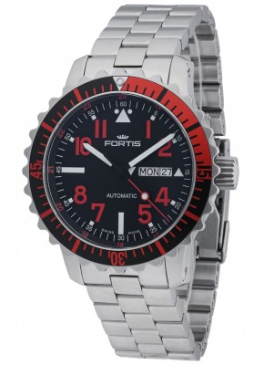 Fortis Aquatis Marinemaster DayDate Rot 670.23.43 M watch picture