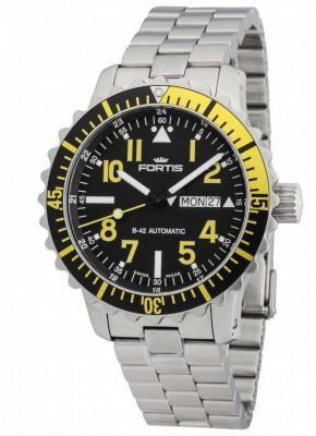 Fortis Aquatis Marinemaster DayDate Yellow 670.24.14 M watch picture