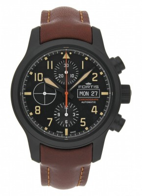 Fortis Aviatis Aeromaster Stealth Chronograph 656.18.18 L.18 watch picture
