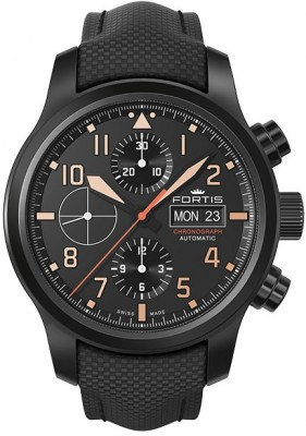 Fortis Aviatis Aeromaster Stealth Chronograph 656.18.18 LP watch picture
