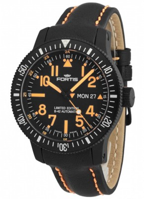 Fortis B42 Black Mars 500 DayDate 647.28.13 L.13 Limited Edition watch picture