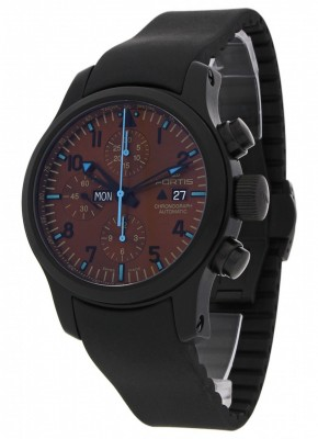 Fortis B42 Blue Horizon Chronograph PVD Limited Edition 656.18.95 K watch picture