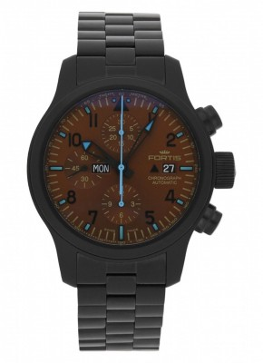 Fortis B42 Blue Horizon Chronograph PVD Limited Edition 656.18.95 M watch picture