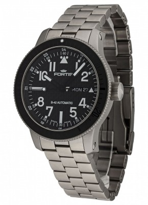 Fortis B42 Titanium Carbon Dial DayDate 647.27.71 M watch picture