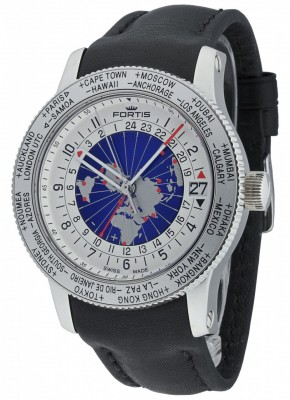 Fortis B47 World Timer GMT 674.20.15 L.01 watch picture