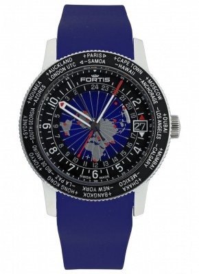 Fortis B47 World Timer GMT 674.21.11 Si.05 watch picture