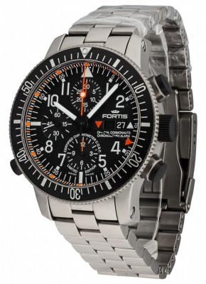 Fortis Cosmonauts Titanium Alarm Chronograph Limited Edition COSC 660.27.11 M watch picture