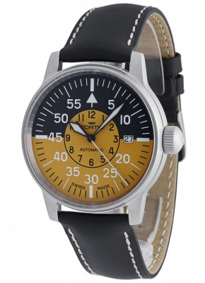 Fortis Flieger Cockpit Automatic Yellow Date 595.11.14 L.01 watch picture