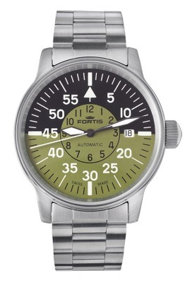 Fortis Flieger Cockpit Olive Date 595.11.16 M watch picture