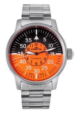 Fortis Flieger Cockpit Orange Date 595.11.13 M watch picture