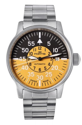 Fortis Flieger Cockpit Yellow Date 595.11.14 M watch picture