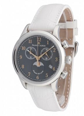Maurice Lacroix Les Classiques Phase de Lune Chronograph Date Mondphase Quarz LC1087SS001821 watch picture
