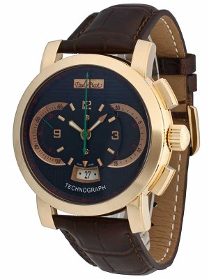 Paul Picot Technograph Chronograph 18kt 750 Gold P0334.RG.3404 watch picture